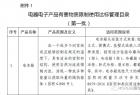 """国家工信部发布""""中国RoHS""""第一批达标管理目录"""