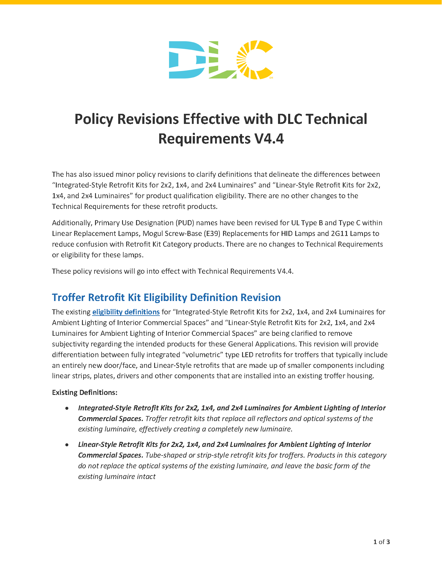 【摩尔资讯】美国DLC技术规范V4.4正式生效