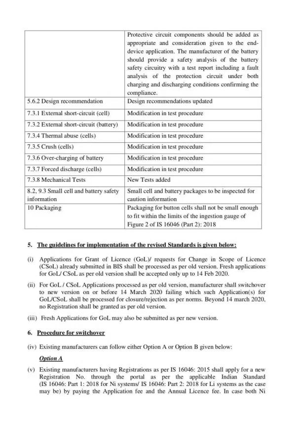 印度BIS发布电池新标准更新指引图3